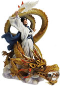 Zhuge Liang Riding Dragon Statue