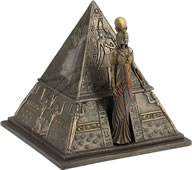 Egyptian Queen and Pyramid Trinket Box