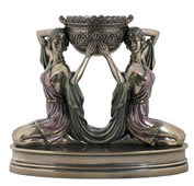 Art Deco - Kneeling Ladies Candle Holder