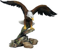 Eagle Opening Wings Sculpture