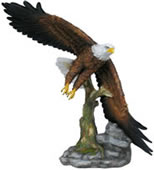 Flying Eagle Statue- Painted