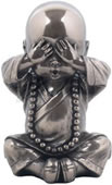 Little Monk Figurine- See No Evil