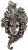 Grapes Mask Wall Plaque