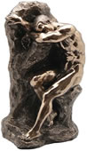 Nude Male on Rock Bookend (Sold Individually)