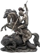 Saint George the Dragon Slayer Sculpture