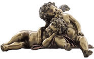 Sleeping Cherubs Statue/Shelf Sitter