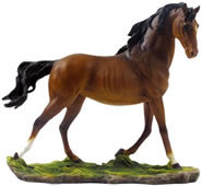 Galloping Bay Stallion Sculpture