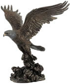 Bald Eagle Catching Fish Statue