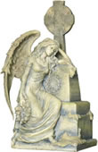 Gothic Angel Sitting Statue
