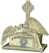 Gothic Angel On Grave Statue