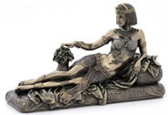 Egyptian Queen Lounging Sculpture