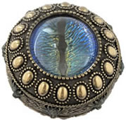 Dragon's Eye Trinket Box, Blue