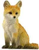 Fox Cub Figurine, 4.5 Inch