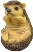 Baby Hedgehog Sitting Figurine
