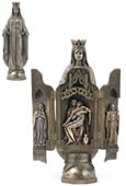 Lady Of Grace With Polyptych Sculpture Of Pieta