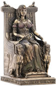 Egyptian Queen Sitting In The Throne Statue