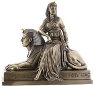Cleopatra on Sphinx Sculpture
