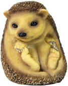 Baby Hedgehog Sitting Up Figurine