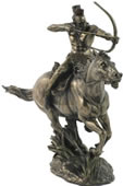 Mohican Warrior On Horseback Sculpture