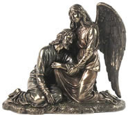 Jesus Leaning on Angel Sculpture