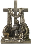 Descent From The Cross In Calvary Sculpture