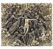 Madonna Holding Jesus With Angels Wall Plaque