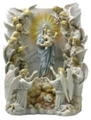 Maria Regina Angelorum with 19 Angels - Wall Plaque
