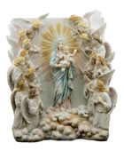 Maria Regina Angelorum Wall Plaque (Light Color)