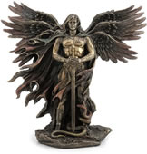 Six-Winged Guardian Angel/Seraphim with Serpent Statue