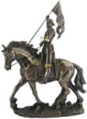 Joan of Arc on Horse Sculpture