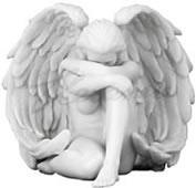 Winged Nude Female Figurine