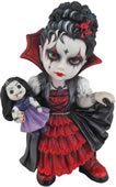 Cosplay Kids Figurine- Vampire Girl Holding A Vamp Doll