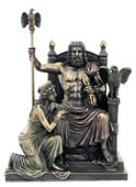 Zeus And Hera At The Throne Sculpture