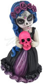 Cosplay Kids Figurine- Day Of The Dead Holding Pink Skull