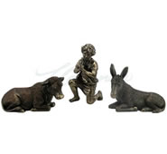 Nativity Figurines- Donkey, Cow, Shepherd
