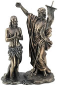 Jesus Baptized By St. John The Baptist Statue