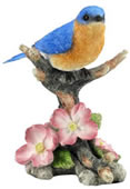 Bluebird on Flower Branch Figurine