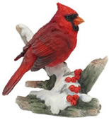 Cardinal with Berries Figurine