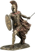 Achilles With Spear & Shield Statue