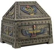 Egyptian Heart Scarab Trinket Box