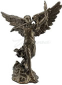 Archangel Remiel With Sword And Lightning Statue