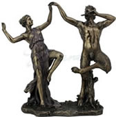Satyr Dancing With A Nymph Statue