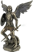 St. Michael Standing On Demon With Sword And Shield