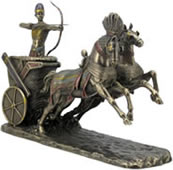 Egyptian Ramses Il on Chariot Sculpture