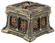 Steampunk Butterfly And Gears Trinket Box I