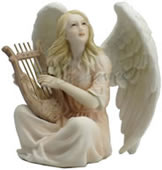 Angel Playing Lyre Figurine