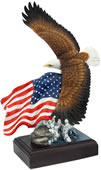 American Pride Statue- Bald Eagle & Flag (Color)