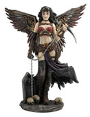 Steampunk Winged Female Warrior With Chained Blade