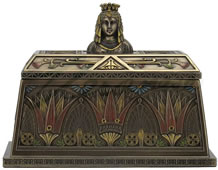 Art Deco - Egyptian Queen Bust Trinket Box