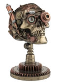 Steampunk Skull On Gear Stand